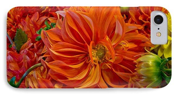 Orange Bouquet IPhone Case by Arlene Carmel