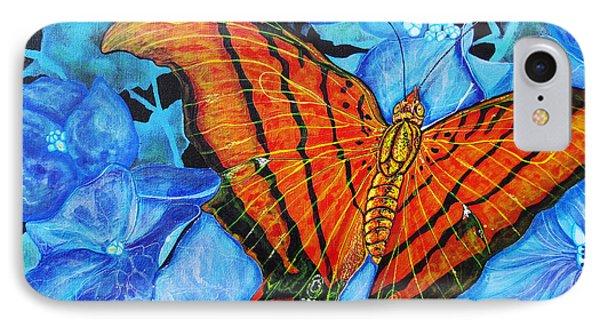 Orange Butterfly IPhone Case by Debbie Chamberlin