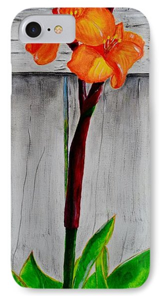 Orange Canna Lily IPhone Case by Melvin Turner