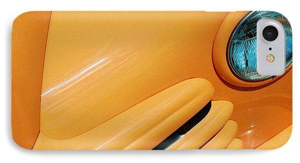 Orange Car IPhone Case by Daniel Thompson