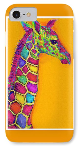 Orange Carosel Giraffe Phone Case by Jane Schnetlage
