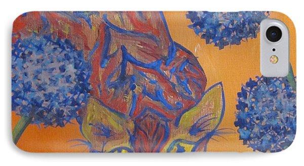 Orange Cat Phone Case by Cherie Sexsmith