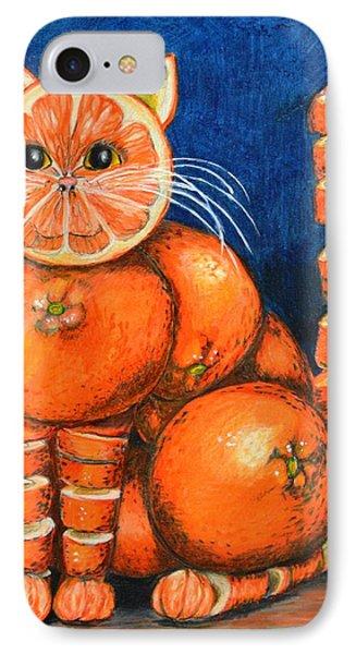Orange Cat Phone Case by Jane Loveall