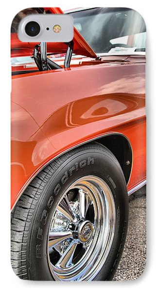 Orange Chevelle Ss 396 Phone Case by Dan Sproul