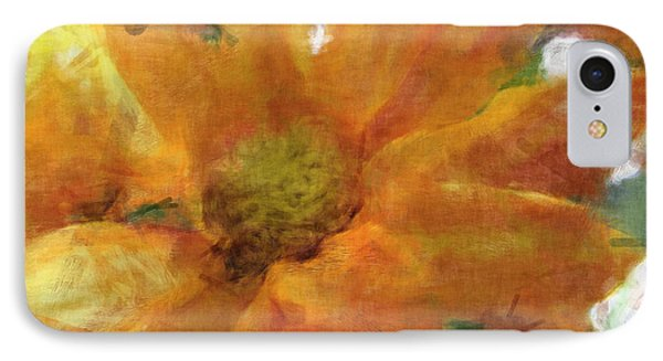 Orange Chrysanthemem Photoart IPhone Case by Debbie Portwood
