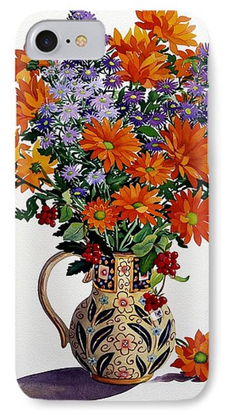 Orange Chrysanthemums IPhone Case by Christopher Ryland