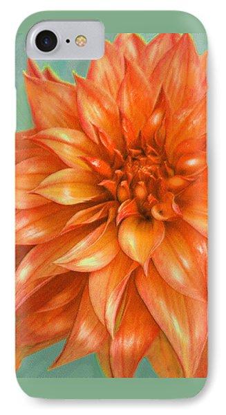 IPhone Case featuring the digital art Orange Dahlia by Jane Schnetlage