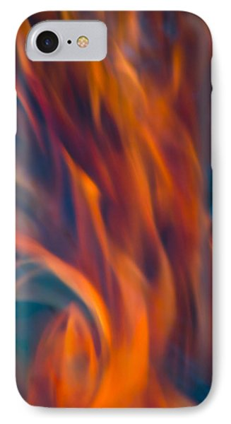 IPhone 7 Case featuring the photograph Orange Fire by Yulia Kazansky