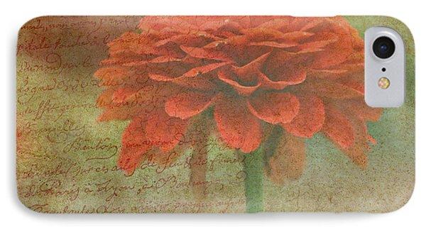 Orange Floral Fantasy Phone Case by Kay Novy