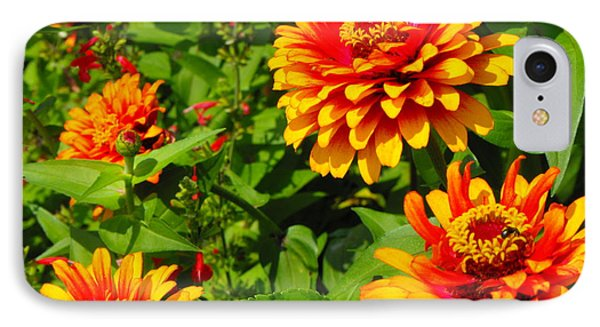 Orange Flower Bloom IPhone Case by Erick Schmidt