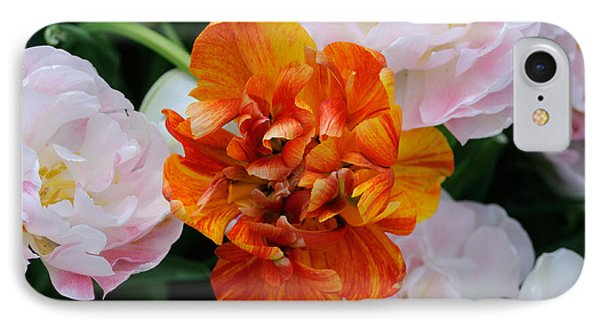 Orange Flower IPhone Case by Haleh Mahbod