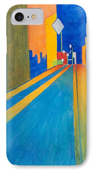 Orange France At Night Phone Case by Lee Beuther
