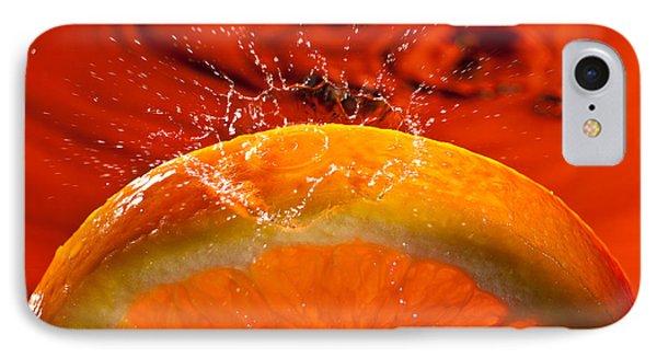 Orange Freshsplash 2 Phone Case by Steve Gadomski