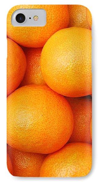 Orange Geometry IPhone Case by Jim Hughes