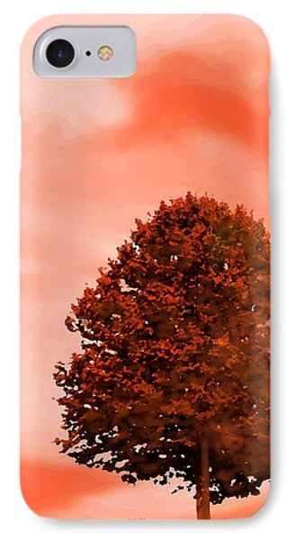 IPhone Case featuring the digital art Orange Glow Of Fall by Mary Armstrong