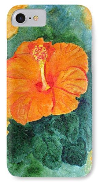 Orange Hibiscus IPhone Case by Sandy McIntire