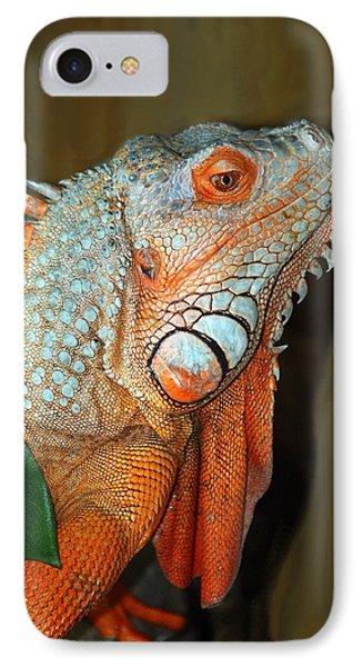 IPhone Case featuring the photograph Orange Iguana by Patrick Witz