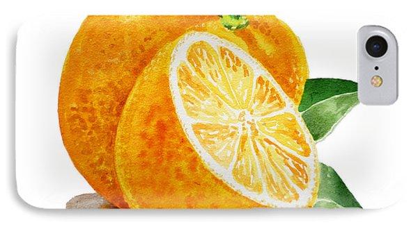 Orange Phone Case by Irina Sztukowski