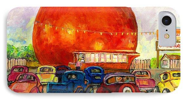 Orange Julep With Antique Cars Phone Case by Carole Spandau