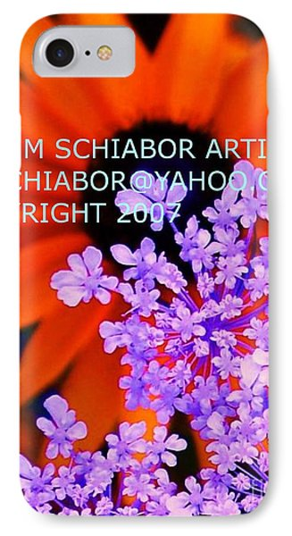 Orange Lavender Flower IPhone Case by Eric  Schiabor