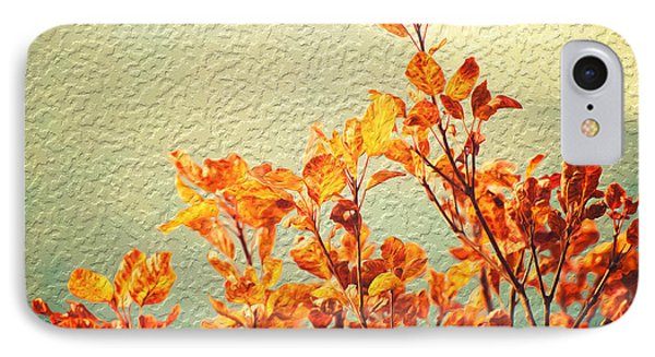 Orange Leaves IPhone Case by Yew Kwang