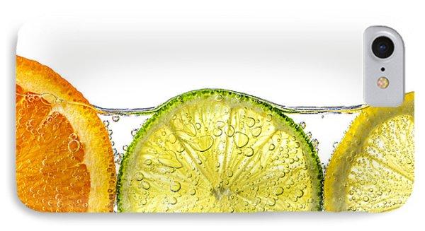 Orange Lemon And Lime Slices In Water Phone Case by Elena Elisseeva