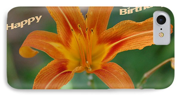 Orange Lily Birthday 1 Phone Case by Aimee L Maher Photography and Art Visit ALMGallerydotcom