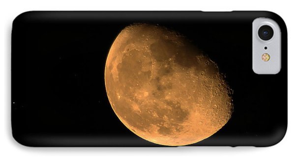 Orange Moon IPhone Case by Richard Stephen