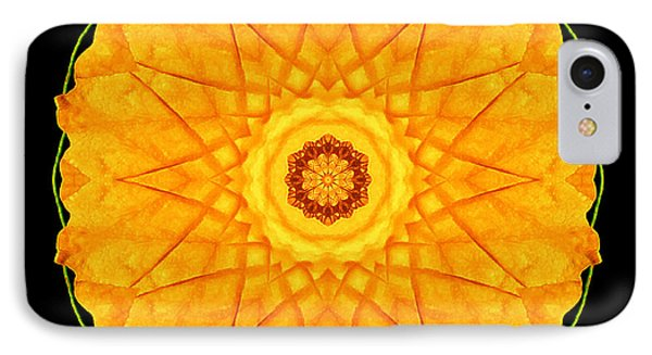 IPhone Case featuring the photograph Orange Nasturtium Flower Mandala by David J Bookbinder