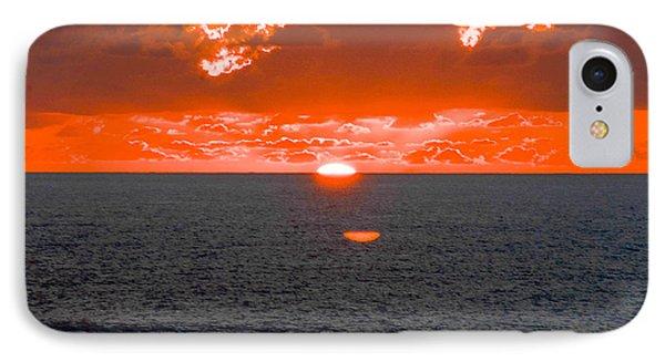 Orange Ocean Sunset 2 IPhone Case