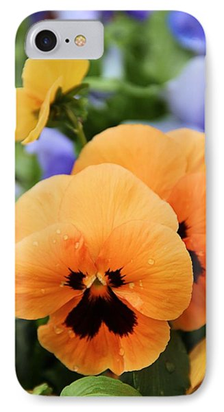 IPhone Case featuring the photograph Orange Pansies by Elizabeth Budd