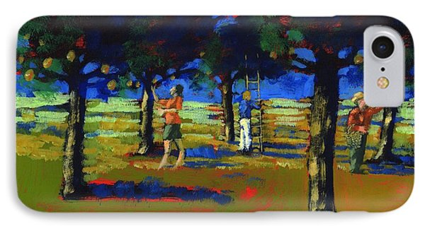 Orange Picking IPhone Case by Paul Powis