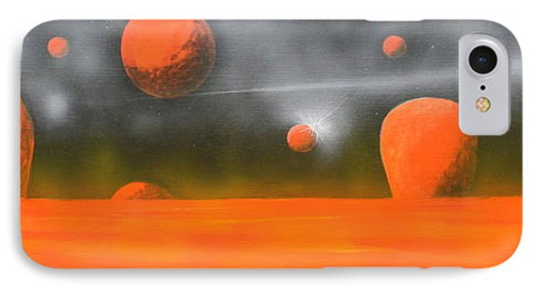 Orange Planet IPhone Case by Tim Mullaney
