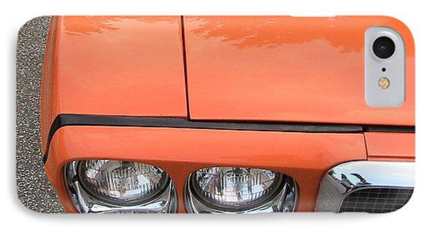 Orange Pontiac Phone Case by Nancy Aikins