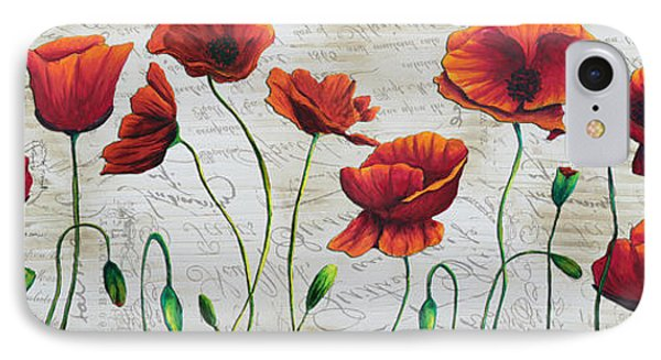 Orange Poppies Original Abstract Flower Painting By Megan Duncanson Phone Case by Megan Duncanson