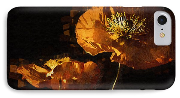 Orange Poppies Two IPhone Case by Kirt Tisdale