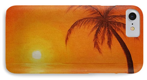 IPhone Case featuring the painting Orange Reflections by Arlene Sundby