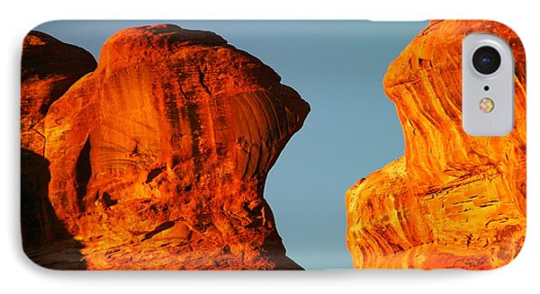 Orange Rock Foreground A Blue Sky IPhone Case
