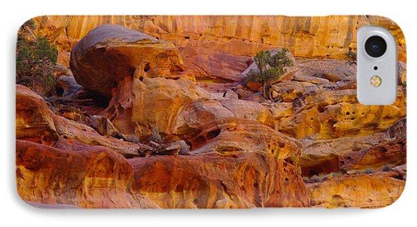 Orange Rock Formation Phone Case by Jeff Swan