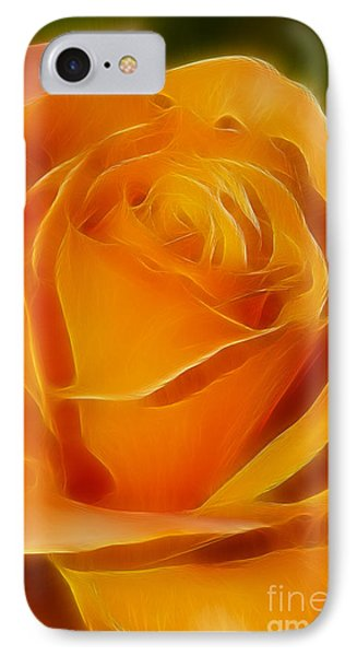 Orange Rose 6291-fractal Phone Case by Gary Gingrich Galleries