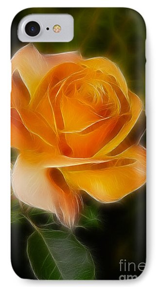 Orange Rose 6292-fractal Phone Case by Gary Gingrich Galleries