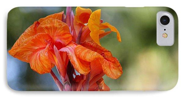 Orange Ruffled Beauty Phone Case by Leigh Meredith