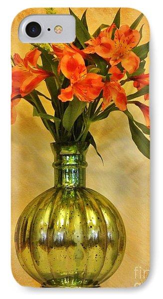 Orange Shades Bouquet IPhone Case by Marsha Heiken