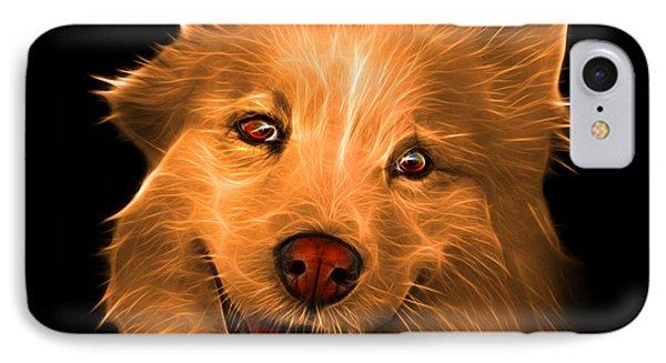 Orange Siberian Husky Mix Dog Pop Art - 5060 Bb IPhone Case