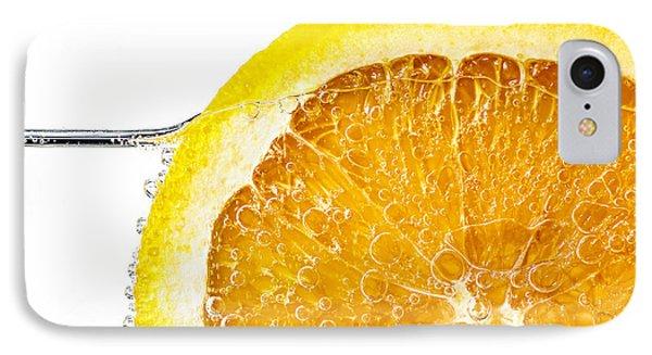 Orange Slice In Water IPhone Case by Elena Elisseeva