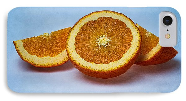 Orange Sliced Phone Case by Alexander Senin