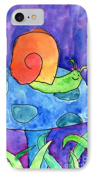 Orange Snail Phone Case by Nick Abrams Age Twelve