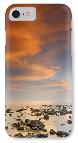Orange Sunset At The Rocks Phone Case by Guido Montanes Castillo