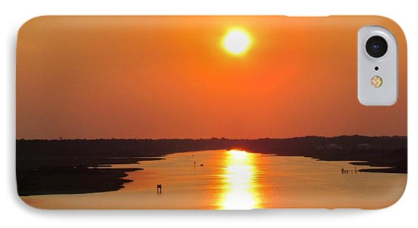 IPhone Case featuring the photograph Orange Sunset by Cynthia Guinn