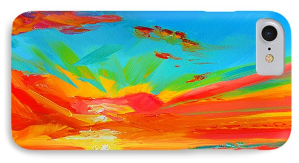 Orange Sunset Landscape Phone Case by Patricia Awapara